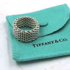 Tiffany & co. 925 silver. Somerset mesh ring